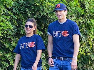 Ashton Kutcher Spoon-Feeds Mila Kunis in N.Y.C. | Ashton Kutcher, Mila Kunis
