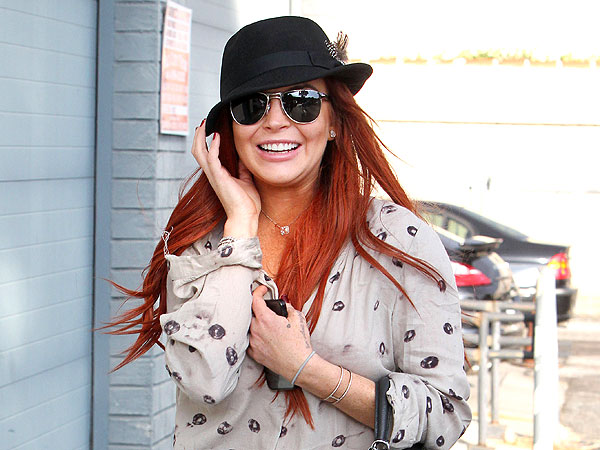 Lindsay Lohan &#39;At Ease&#39; in West Hollywood Following Family Dispute