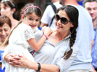 Katie Holmes & Suri Cruise's Pre-Hurricane Dinner in N.Y.C.