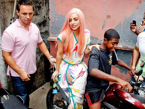 Lady Gaga Hangs With Locals in Rio