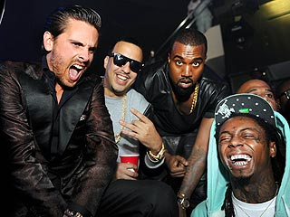 Diddy, Kanye, Fat Joe Delight Miami Clubgoers with Surprise Concert | Kanye West, Lil Wayne, Scott Disick