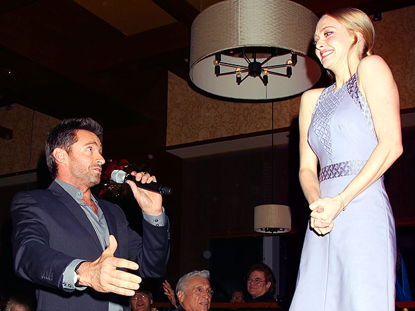 Hugh Jackman Serenades Amanda Seyfried in N.Y.C.