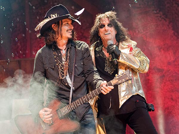 Johnny Depp Performs with Alice Cooper in L.A.