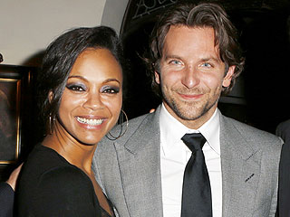 Bradley Cooper Brings Zoe Saldana to Silver Linings Playbook Party | Bradley Cooper, Zoe Saldana