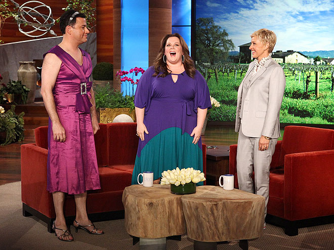 photo | Ellen DeGeneres, Jimmy Kimmel, Melissa McCarthy