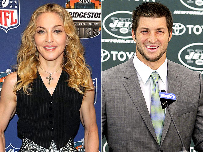 photo | Madonna, Tim Tebow