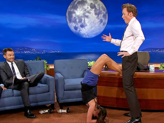 photo | Conan O'Brien, Joel McHale, Nina Dobrev