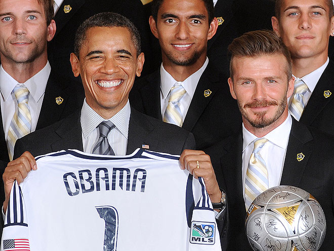 photo | Barack Obama, David Beckham