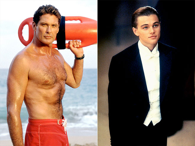 photo | David Hasselhoff, Leonardo DiCaprio