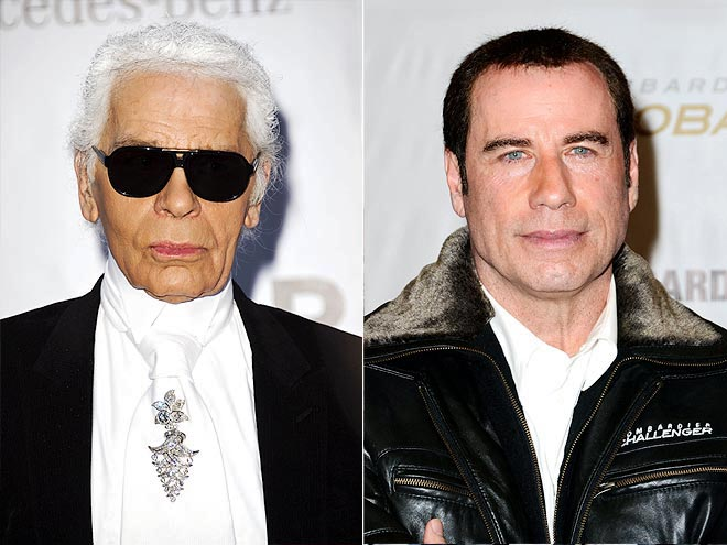  photo | John Travolta, Karl Lagerfeld