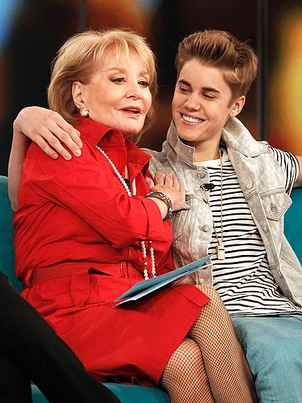 photo | Barbara Walters, Justin Bieber
