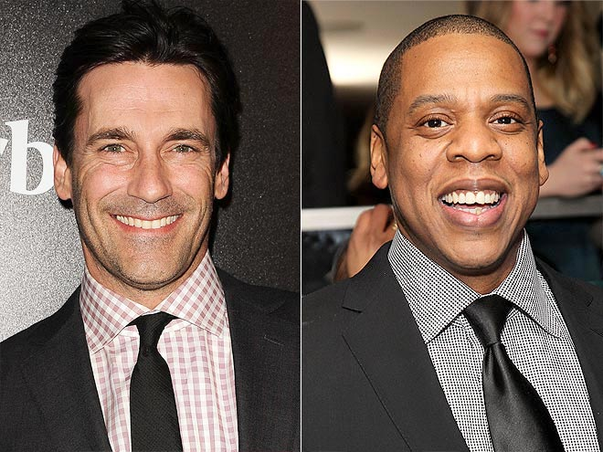 photo | Jay-Z, Jon Hamm