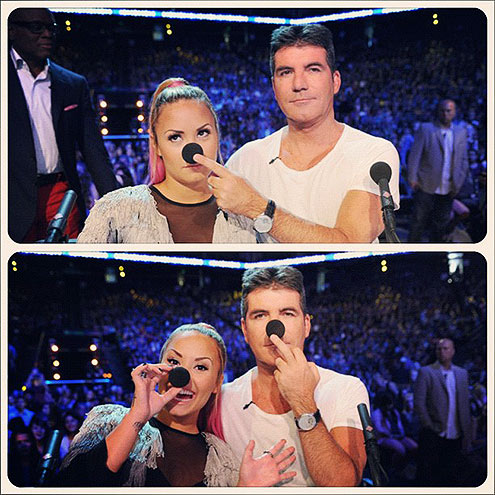 photo | Demi Lovato, Simon Cowell