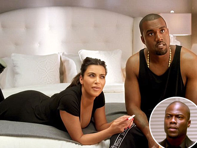 photo | Kanye West, Kevin Hart, Kim Kardashian