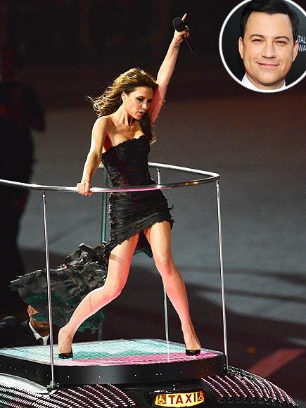 photo | Jimmy Kimmel, Victoria Beckham