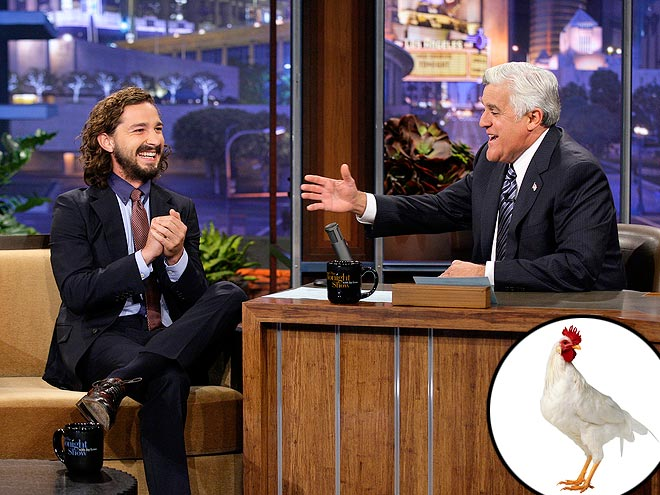 photo | Jay Leno, Shia LaBeouf