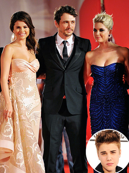  photo | Ashley Benson, James Franco, Justin Bieber, Selena Gomez