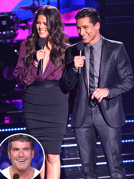  photo | Khloe Kardashian, Mario Lopez, Simon Cowell