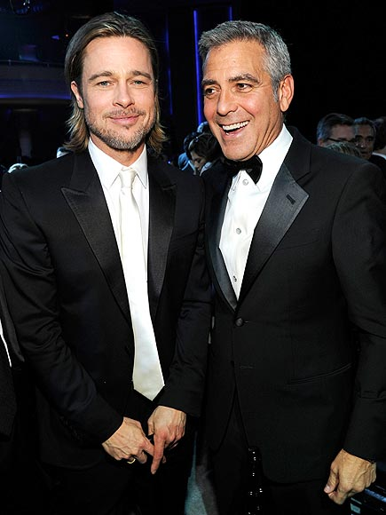 photo | Brad Pitt, George Clooney