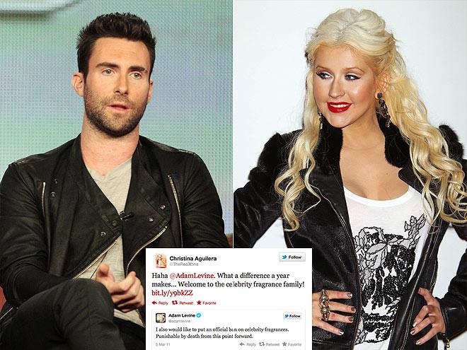 ADAM LEVINE  photo | Adam Levine, Christina Aguilera