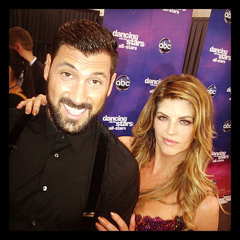 MAKS & KIRSTIE photo | Joey Fatone, Kirstie Alley