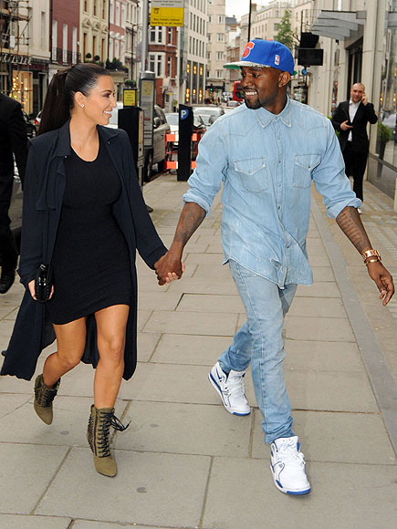 LONDON photo | Kanye West, Kim Kardashian