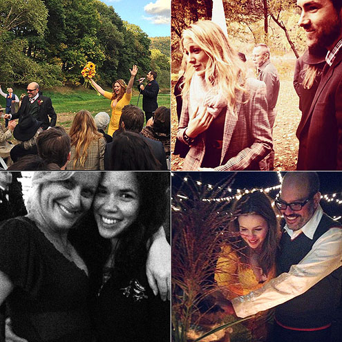 AND AMBER GETS MARRIED! photo | Amber Tamblyn, America Ferrera, Blake Lively, Ryan Reynolds