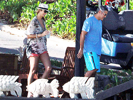 George Clooney, Stacy Keibler in Cabo San Lucas Mexico: Pictures