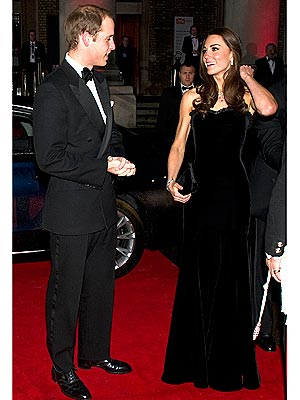 Kate Wears Alexander McQueen Gown to Honor Servicemen and Women