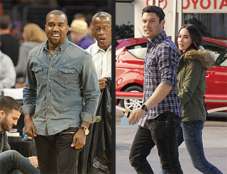 Stars Cheer for the Lakers – and Kobe – in NBA Season Opener | Brian Austin Green, Kanye West, Megan Fox