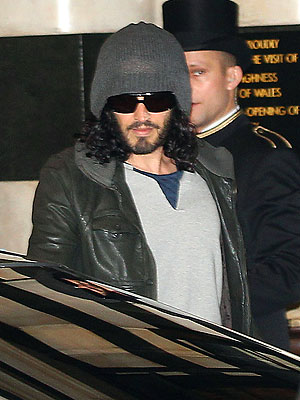 Russell Brand Files for Divorce; Spotted in London