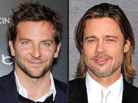 Golden Globes 2012: Bradley Cooper, Brad Pitt