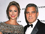 How George Clooney Helps Stacy Keibler Get Ready for Award Shows