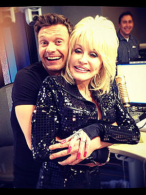 Ryan Seacrest Grabs Dolly Parton's Breasts