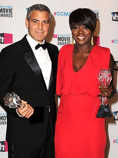 George Clooney, Viola Davis Win Critics&#39; Choice Awards | George Clooney, Viola Davis