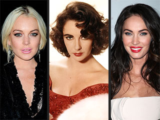 Lindsay Lohan vs. Megan Fox: Who Should Play Elizabeth Taylor? | Elizabeth Taylor, Lindsay Lohan, Megan Fox