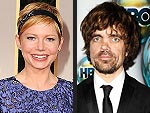 Peter Dinklage Gives Michelle Williams a 'Little Grief' at Globes Reunion
