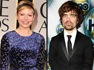 Peter Dinklage Gives Michelle Williams a &#39;Little Grief&#39; at Globes Reunion