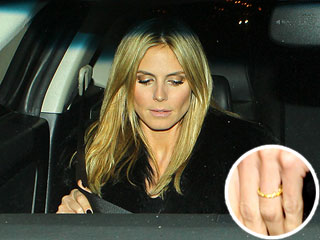 Heidi Klum Spotted Wearing Wedding Ring | Heidi Klum