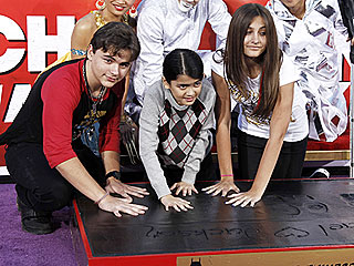 PHOTO: Michael Jackson's Kids Honor Him with Handprint Ceremony in L.A.