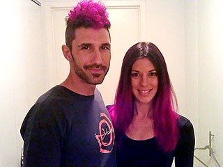 Ethan Zohn & Jenna Morasca Dye Their Hair Pink – for a Good Cause | Ethan Zohn, Jenna Morasca