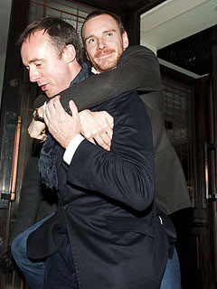 PHOTO: Michael Fassbender Gets Carried Away – Literally – at His Own Party | Michael Fassbender