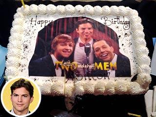 PHOTO: Ashton Kutcher's Two and a Half Men-Inspired Birthday Cake | Ashton Kutcher