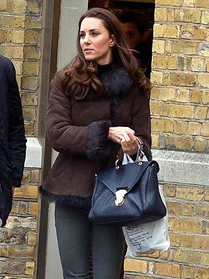 Kate, Duchess of Cambridge, in Fur on King's Road, London