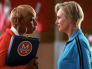 Jane Lynch Gets Served by NeNe Leakes on Glee | Jane Lynch, NeNe Leakes