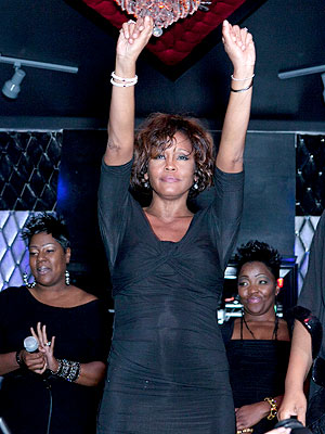 Whitney Houston Takes Center Stage at Pre-Grammy Party