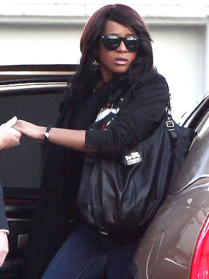 Whitney Houston Funeral - Bobbi Kristina Arrives for Mom's Private Wake