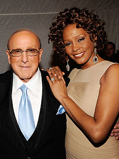 Clive Davis Honors Whitney at Pre-Grammy Party | Clive Davis, Whitney Houston