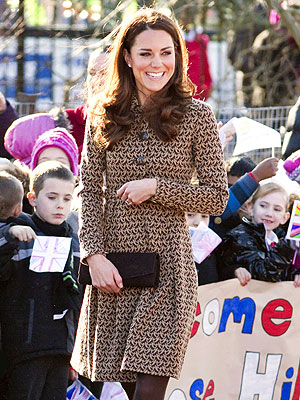 Duchess of Cambridge Visits Kids in Oxford