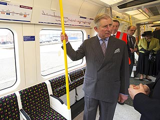 Prince Charles Drives a London Tube Train| The Royals, Prince Charles, Prince Harry